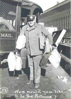 Mail carrier, delivering your crap! Not taking it!