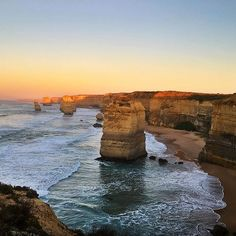 The #12Apostles at sunrise really are an extraordinary sight as captured by @oliviaflorentine. You'll find these spectacular rock formations along #Victoria's @visitgreatoceanroad one of Australia's most scenic coastal drives. If you visit this spot at dawn and dusk you might be lucky enough to see the resident Little Penguins as they scurry along the base of the towering cliffs. by australia http://ift.tt/1ijk11S