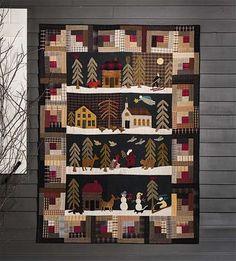 Tissus américains, KIT QUILT SILENT NIGHT de NORMA WHALET est une création orginale de Revedepatch- sur DaWanda 145 euros quilt complet