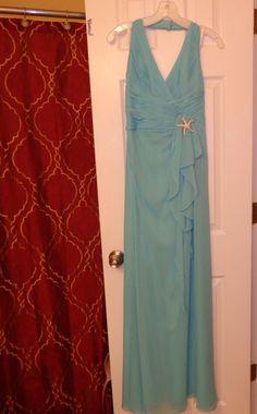 Bridemaids Never Worn – Floor length – Tiffany blue/Teal