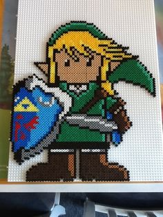 Link Zelda hama perler by Randi Frederiksen...might use this to make a granny square blanket