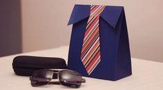 Como fazer caixa de presente para homem - Bolsa de Mulher