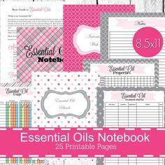 Essential Oils Planner Journal Notebook Printable PDF Printables