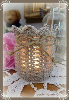 Crochet Motif, Crochet Doilies, Knit Crochet, Crochet Style, Crochet Decoration, Crochet Home Decor, Crochet Jar Covers, Doily Art, Crochet Fairy