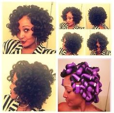 30. #Flexirod Set and Curl - 67 Crushworthy #Natural Hair Ideas from Pinterest ... → Hair #Ideas