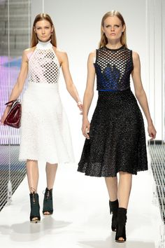 Christian Dior Cruise 2015 - I want the shooties (w/the blue dress) :-)