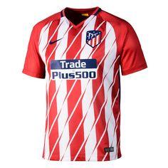 2017-2018 Atletico Madrid Home Football Shirt ~ Football Shirts