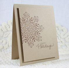 Handmade Holiday - Christmas Greeting Card. $3.25, via Etsy.