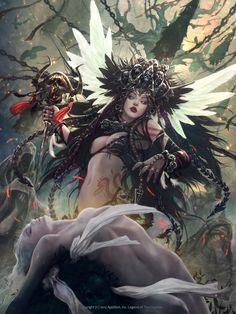 ArtStation - Legend of The Cryptids : Moudra, Funeral Shamaness, kisuny Park