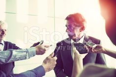 Interview in the office building, journalism royalty-free stock photo