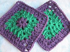 SmoothFox Crochet and Knit: SmoothFox Cool 2B Square - Free Crochet Pattern