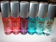 These were my favorite of all time! Just a simple body spray, but they smelled so good for being so cheap! Bonne belle bottled emotion.