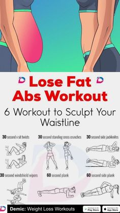 LOSE FAT: Abs workout for losing fat. Get rid of stomach fat with this workout. LOSE FAT: Abs workout for losing fat. Get rid of stomach fat with this workout. Fitness Workouts, Gym Workout Tips, Fitness Workout For Women, At Home Workouts, Body Fitness, Workout Abs, Waist Workout, Fitness Plan, Woman Fitness