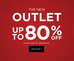 the outlet 80% off!