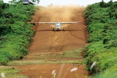 Missionary pilot or Stunt pilot?  Not even close.  Our pilots are trained to some of the highest standards in the world.  That's important, especially when life hangs in the balance and the only option is a strip like this carved into the side of a steep hill.