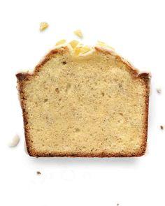 Vanilla Bean Pound Cake with Ginger Glaze