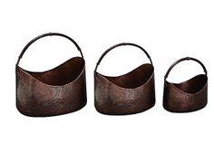 Set of 3 Copper Hammered Baskets on OneKingsLane.com