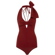 Rosie Assoulin     Esther Williams Bodysuit ($1,095) ❤ liked on Polyvore featuring intimates, shapewear and brown