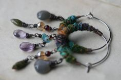 Festive Hoops Collection Assemblage Mixed Beads by Tribalis, $37.00