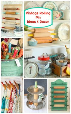 Vintage Rolling Pin Ideas and Decor