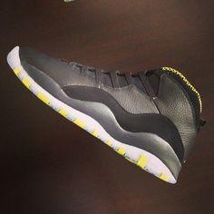 "new arrival cc026 f02e0 Air Jordan 10 ""Venom Green"" Green Sneakers, Sneakers Nike, Jordan 10,"