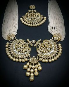 Raani haar with polki necklace
