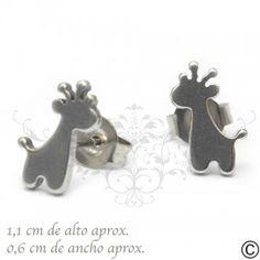ERT_1039, aros, acero, circón, fiesta, accesorios, moda, joya, jirafa