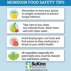 Monsoon Food Safty Tips