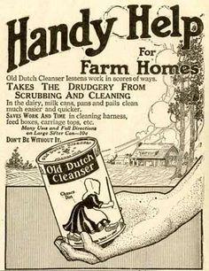 "1913 ""Handy Help for Farm Homes"" Old Dutch Cleanser Ad | eBay"