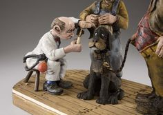 """"""" Blues sick """", close up carved by Caricature Carvers of America member, David Boone."""