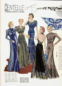 A Few Threads Loose: Modes et Travaux. What was in style for November Source by qunitanilha Kleider 1930s Fashion, Fashion Art, Retro Fashion, Vintage Fashion, Fashion Design, Victorian Fashion, Punk Fashion, Lolita Fashion, Gothic Fashion