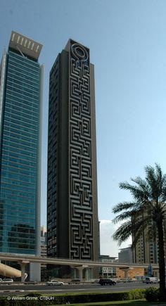 Al Rostamani Maze Tower , Dubai-UAE;  210.0 m  57 fl; completion 2010