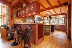 Expansive country kitchen with saddle bar stools - Luxury 5 bedroom Whistler Chalet on Golf Course -  - rentals