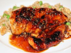 Yes, what else...another recipe using Mae Ploys sweet chili sauce.  This is a stovetop recipe, but am certain grilling would be wonderful.  Should you want a superior sauce even to Mae Ploys, see recipe #457035.