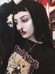 Rooney Mara, Body Modifications, Body Mods, Pastel Goth, Gothic Fashion, Septum, Piercings, Eye Makeup, Your Style