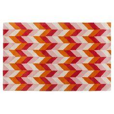 Check out this item at One Kings Lane! Bali Rug, Orange/Violet/Pink