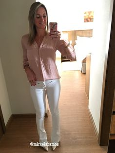 Look de trabalho - look do dia - look corporativo - moda no trabalho - work outfit - office outfit - spring outfit - look executiva - flare branca - white pants