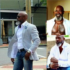 Black men 50 and fit Gorgeous Black Men, Men In Black, Beautiful Men, Black Men Beards, Handsome Black Men, Handsome Man, Beard Game, Man Beard, Style Masculin