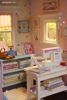 https://flic.kr/p/mogjPK | SEWING TIME BEDROOM :) | Miniature diorama