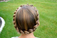 Braided Crown | Updo Hairstyles | Hairstyles, Braids & Video Tutorials | Cute Girls Hairstyles