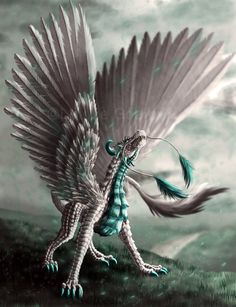 Beautiful Mythological Creatures | Beautiful dragons & Mythical creatures by Louise Goalby | Digital Art ...