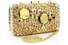 Gold hand purse