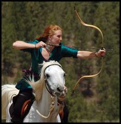 The Hungarian technique of mounted archery requires horseback archers to train first on bareback before progressing to a modified Eastern style saddle. Description from hungergamesarchery.com. I searched for this on bing.com/images