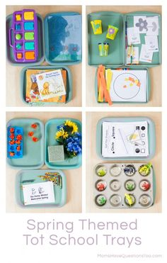 Spring Tot School Trays - Fun ideas that your toddler will love!