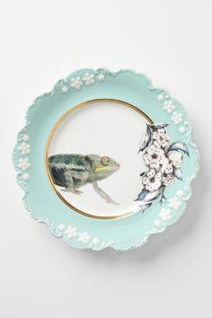 chameleon dessert plate