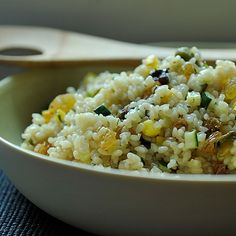 Summer Squash Couscous with Sultanas, Pistachios and Mint Recipe on Food52 recipe on Food52