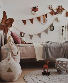 A cute kids room for a little animal lover Cool Kids Bedrooms, Girls Bedroom, Bedroom Ideas, Bedroom Decor, Childrens Room Decor, Kids Decor, Boy Room, Kids Room, Little Girl Rooms