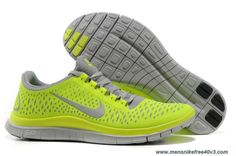 Wolf Grey Electric Green Volt 511457-007 Mens Nike Free 3.0 V4 Outlet