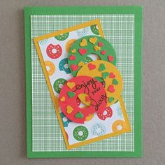 MidnightCrafting National Doughnut Day Cherry on Top Stampin Up Confetti Hearts Punch Endless Birthday Wishes