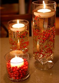 wedding centerpieces red - Google Search
